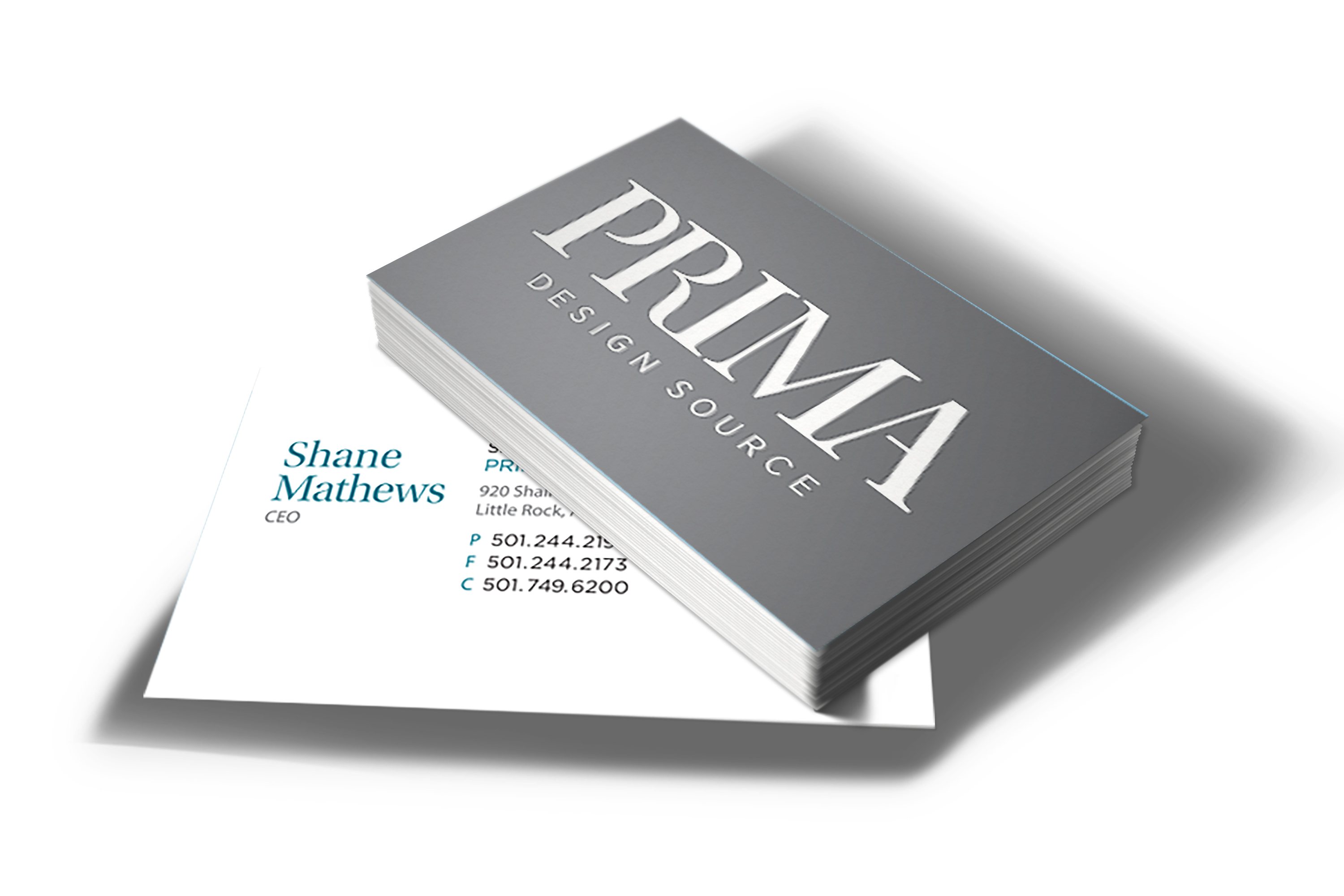 <span>Graphic Design, Branding/Identity, Postcard</span>Prima Design Business Card