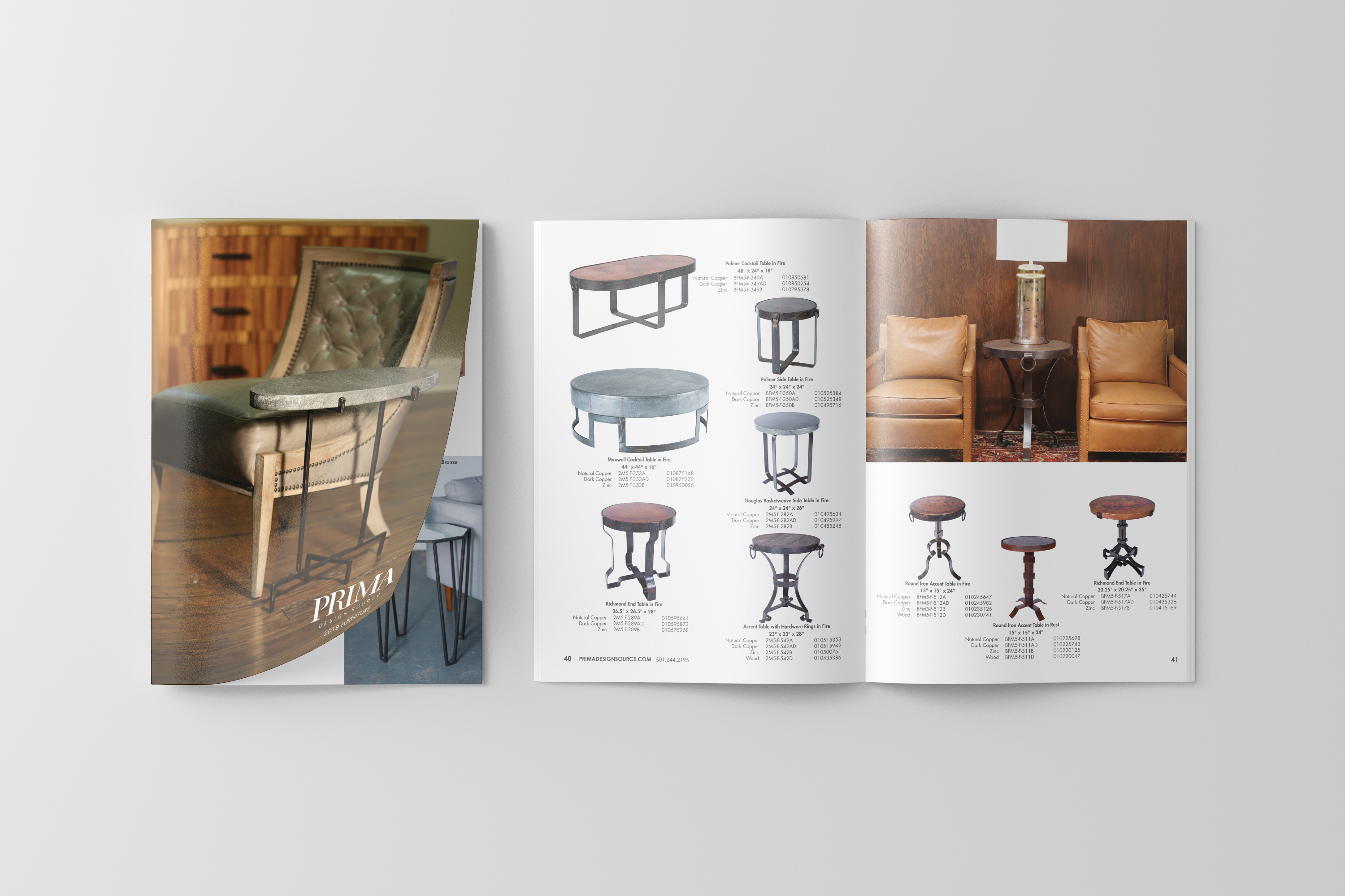<span>Graphic Design, Branding/Identity, Catalog</span>Prima Design Furniture Catalog