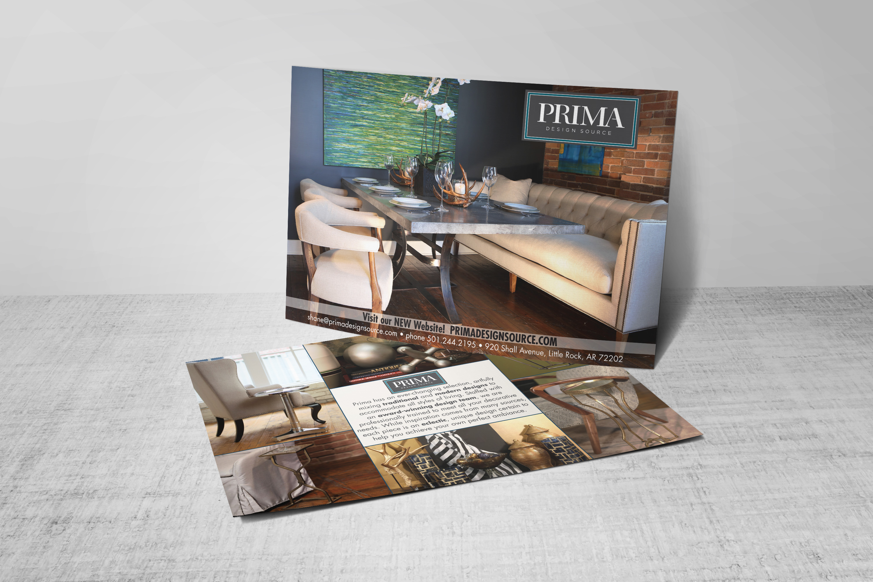 <span>Graphic Design, Branding/Identity, Postcard</span>Prima Design Source Give Away Card