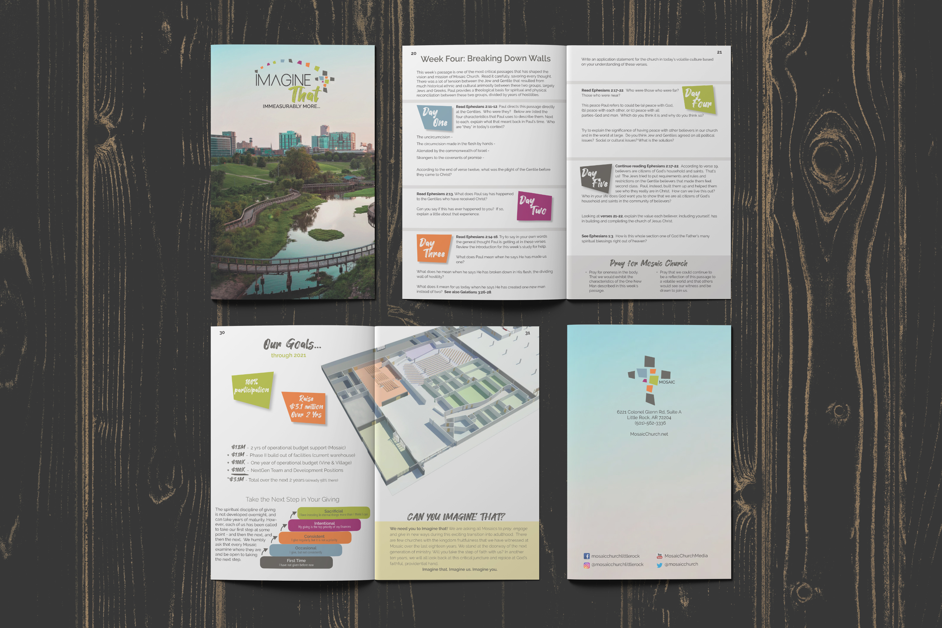 "<span>Graphic Design, Branding/Identity, Brochure, Poster</span>Mosaic ""Imagine That!"" Campaign booklet"